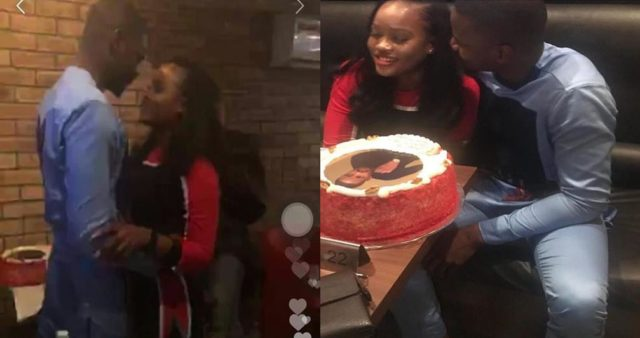 romantic, Cee-c and Leo share some romantic moment at his birthday dinner (Watch Video)