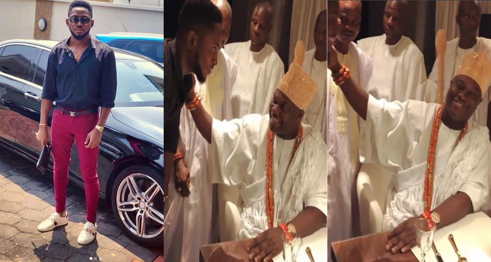Miracle, BBNaija Miracle Pays Ooni of Ife Courtesy Visit (Photos/Video)