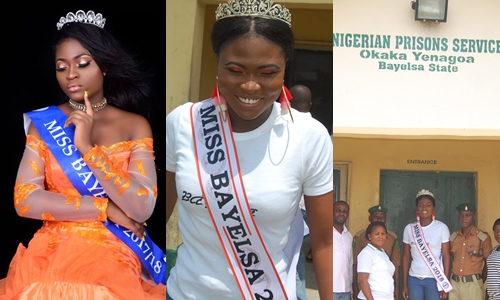 Miss Bayelsa 2018 Queen Freda Fred goes to Prison (See Photos)