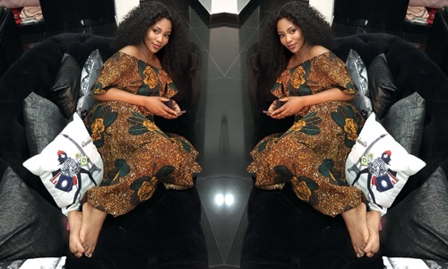 Nollywood celebrity Genevieve Nnaji rocks Ankara  style in new photo