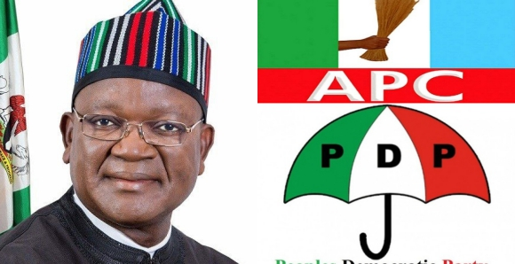 Ortom, Governor Ortom of Benue state officially dumps APC for PDP, Latest Nigeria News, Daily Devotionals & Celebrity Gossips - Chidispalace
