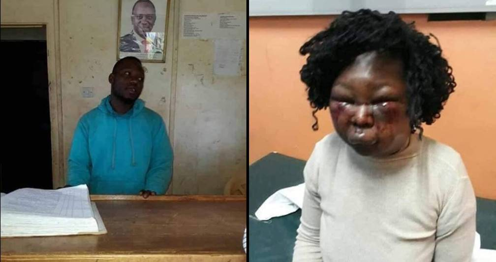Photo of Man arrested for beating his wife to a pulp over food – See Photos
