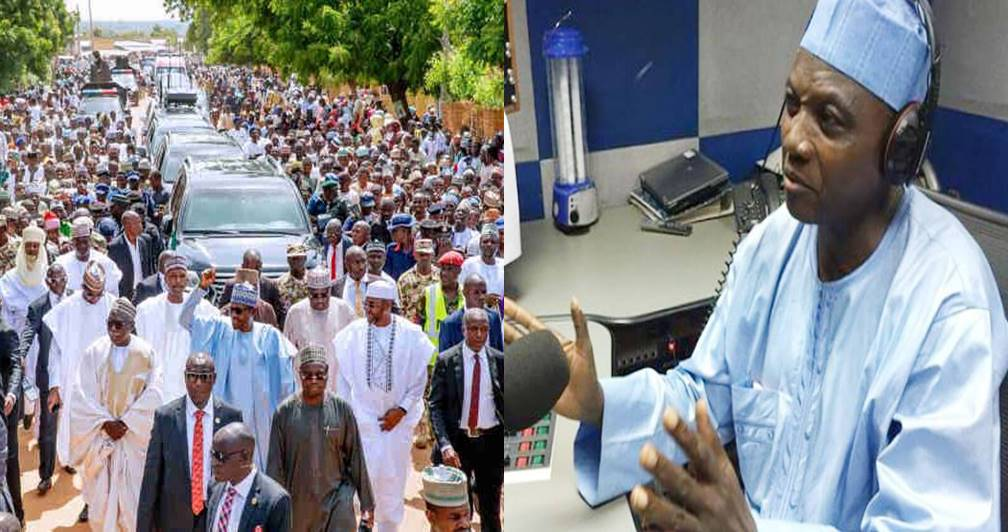 """""""Buhari has demonstrated he is physically fit for second term by trekking 800 metres"""" – says Presidency"""