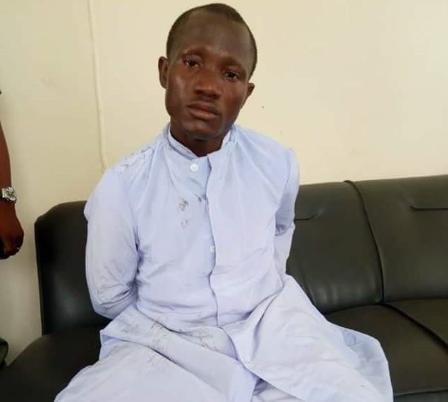 See Photo of Thief dressed as Catholic Seminarian nabbed while trying to steal a car during Priestly Ordination in Owerri