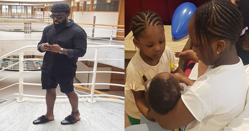 "Finally!!! ""I am done making babies"" – Timaya says as he shares cute photo of his three children"