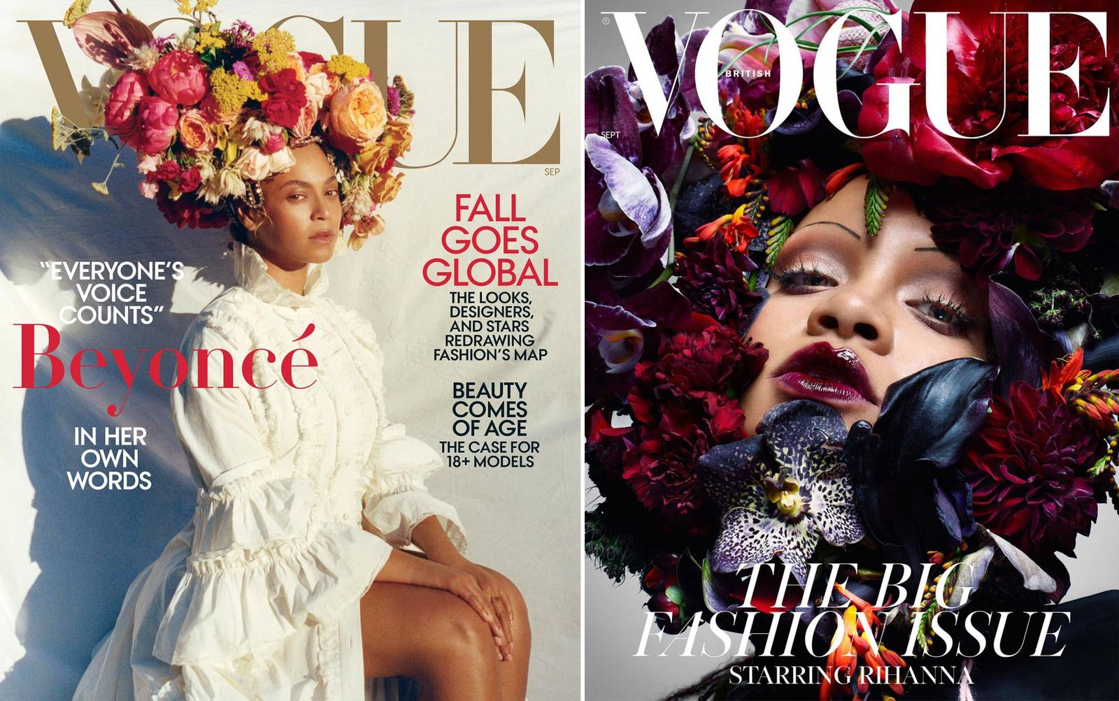 Celeb Battle Of The Floral Headpiece: Who Rocked It Better? Rihanna or Beyonce?
