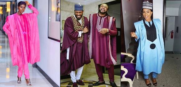 , Nigerian celebrities step out in various Agbada styles to AY Movie Premiere (Photos)
