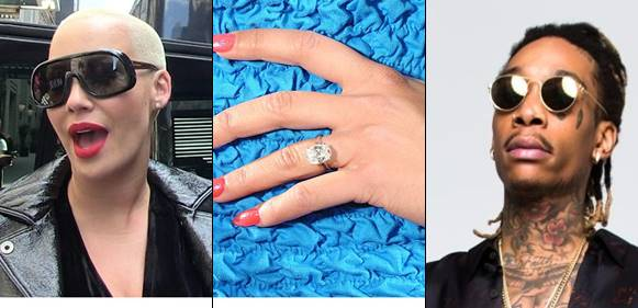 ring, American Model Amber Rose's $150k Engagement ring from Wiz Khalifa Allegedly Missing, Latest Nigeria News, Daily Devotionals & Celebrity Gossips - Chidispalace