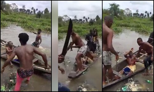 Photo of Angry youths attacked dreaded armed robber with cutlass, axe in Bayelsa – Video