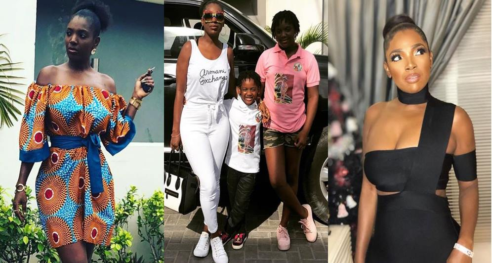 child, Celeb: 'I want a male child too'- Tuface's wife Annie Idibia cries out