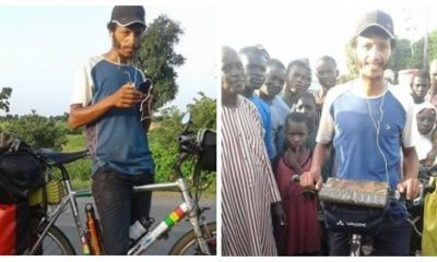 chinese, Hilarious! Chinese girl rides bicycle from Morocco to Lagos in 5 months