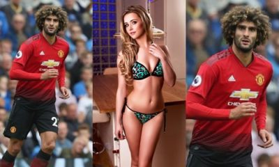 Politician's son exposes Manchester United star, Fellaini, for sending flirty messages to his girlfriend