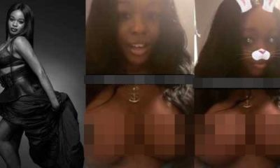Azealia Banks' shows off her new giant breast implants (Video)