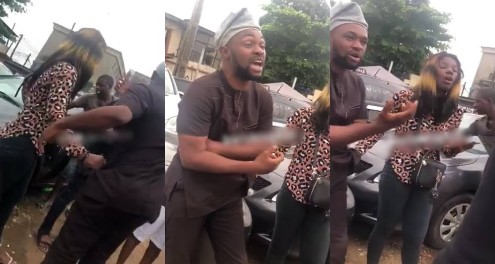 Prostitute disgraces man publicly in Lagos, Prostitute disgraces man publicly in Lagos (Watch Video)