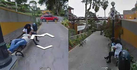 Google street view, Man using Google Street View to get direction, catches his wife cheating (Photos)