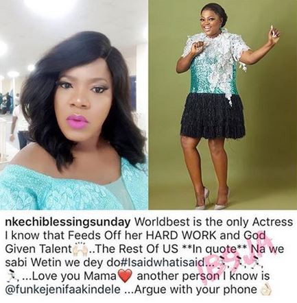 """Nkechi Blessing, """"Except Toyin Abraham and Funke Akindele, all actresses don't feed off their hard work"""" – Nkechi Blessing"""