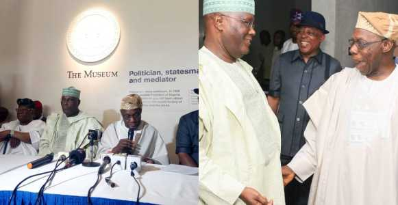 Photo of Obasanjo congratulates Atiku as the incoming Nigerian President