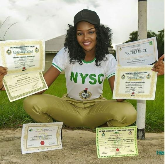 , Wow! Meet the pretty female Corper who became sensational in Cross River (Photos)