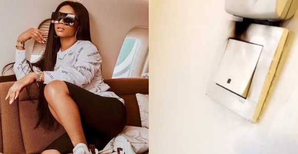 , Toke Makinwa escapes being roasted by house fire (Watch Video)
