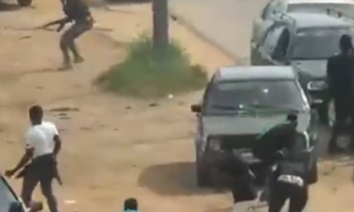 Camera, Video: Nigerian Army Caught On Camera Allegedly Looting Nnamdi Kanu's House Today