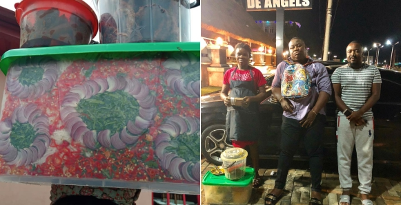Abacha Seller, Imo Millionaire Big Boy, Cubana, Gifts Creative Pregnant Abacha Seller N100k, A Job And An Apartment