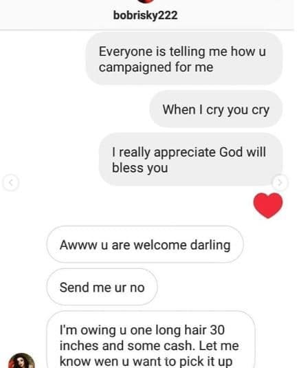 Nina, BBNaija: Hacker Takes Over Nina's Instagram Page, Releases Her 'Private Chats', Demand N800k (Photos)