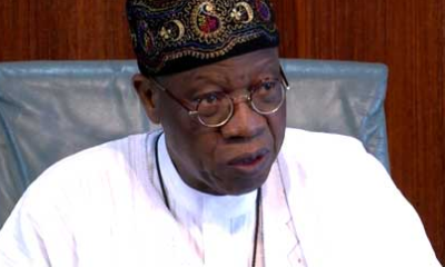 'It is idiotic to say Buhari is cloned' Jibril of Sudan - Minister of Information Lai Mohammed