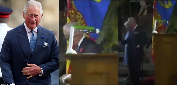 Nigerians React To Prince Charles Allegedly Reading His Speech With Rechargeable Lantern In Abuja