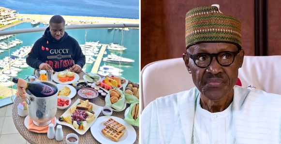 """""""Buhari's family eats more than a thousand dollars per meal but he can't approve N30k minimum wage for civil servants"""" Hushpuppi"""