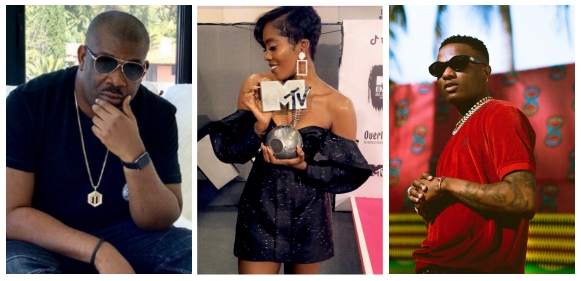 """Wizkid breaks silence over Tiwa Savage's MTV Win as Don Jazzy Calls Her """"The Stew"""""""
