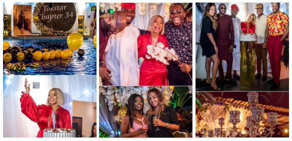 See Photos from Toke Makinwa's star-studded 34th birthday party