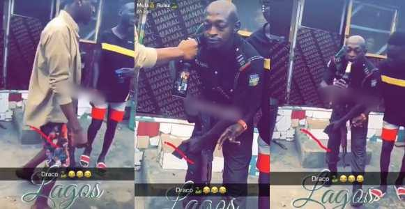 Lagos Police Officer Who Got Drunk On Duty