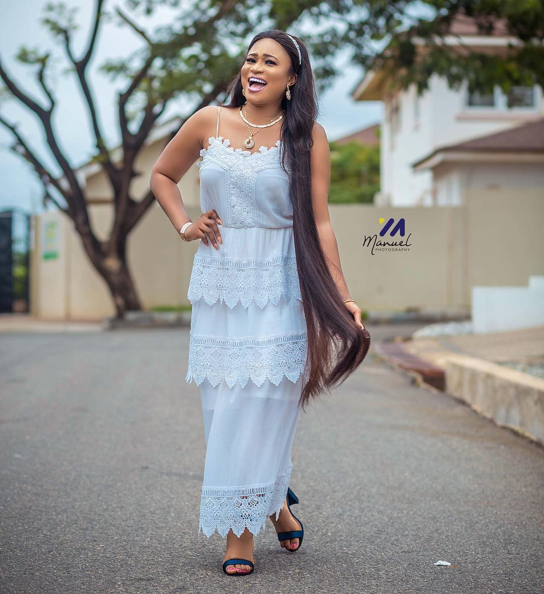 Christabel poses naked, Actress Christabel Ekeh attacked after posing naked with actor – Photos