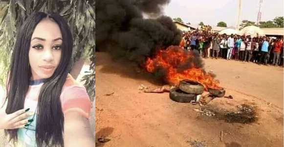 Photo of Suspected female thief burnt to death in Cross Rivers (See Photos)