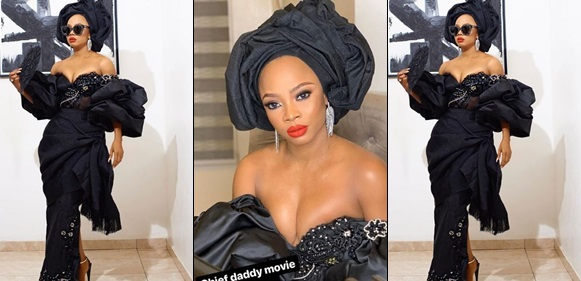 Toke Makinwa's boobs, 'Those boobs are crying for help' – Nigerians react to Toke Makinwa's revealing outfit to the premiere of 'Chief Daddy'