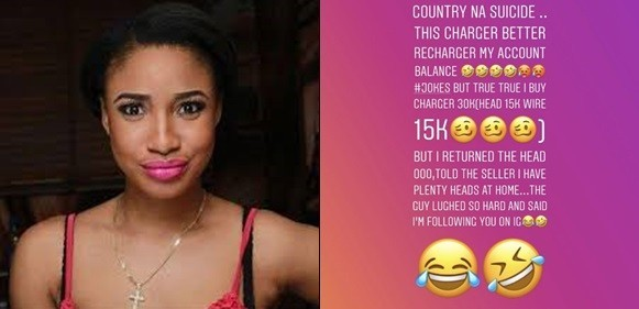 Photo of See What Tonto Dikeh Did After Buying An Iphone Charger For N30k