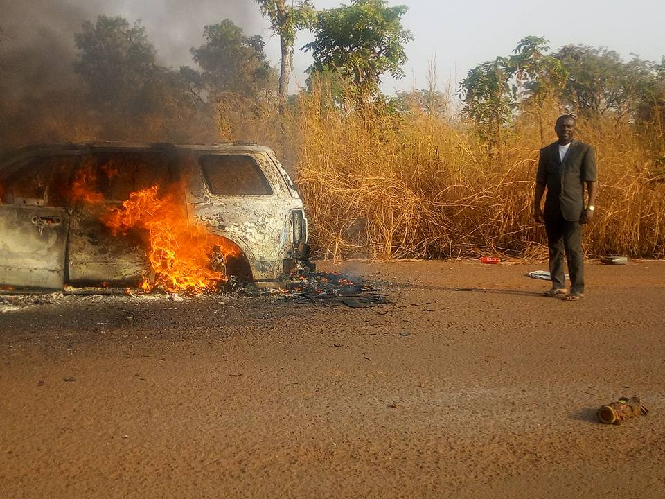 Nigerian Pastors, 3 Nigerian Pastors Narrowly Escape Death After SUV Went Up In Flames While Travelling (Photos), Latest Nigeria News, Daily Devotionals & Celebrity Gossips - Chidispalace