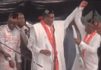 , Viral Video: Buhari makes another blunder at the APC rally in Ekiti state