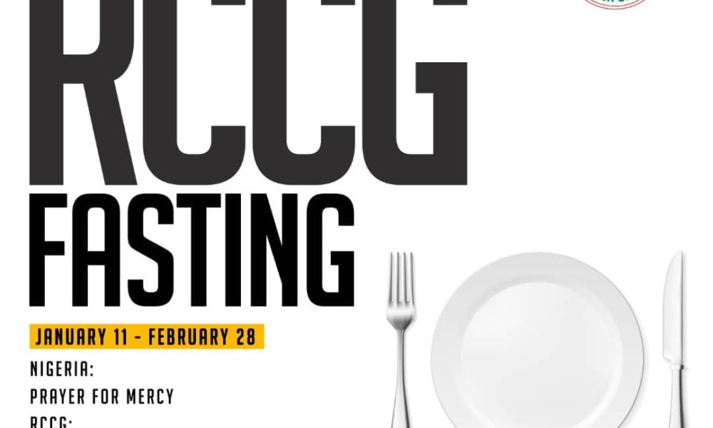 RCCG 2019 Fasting and Prayer Points Guidelines 11 January - Day 1