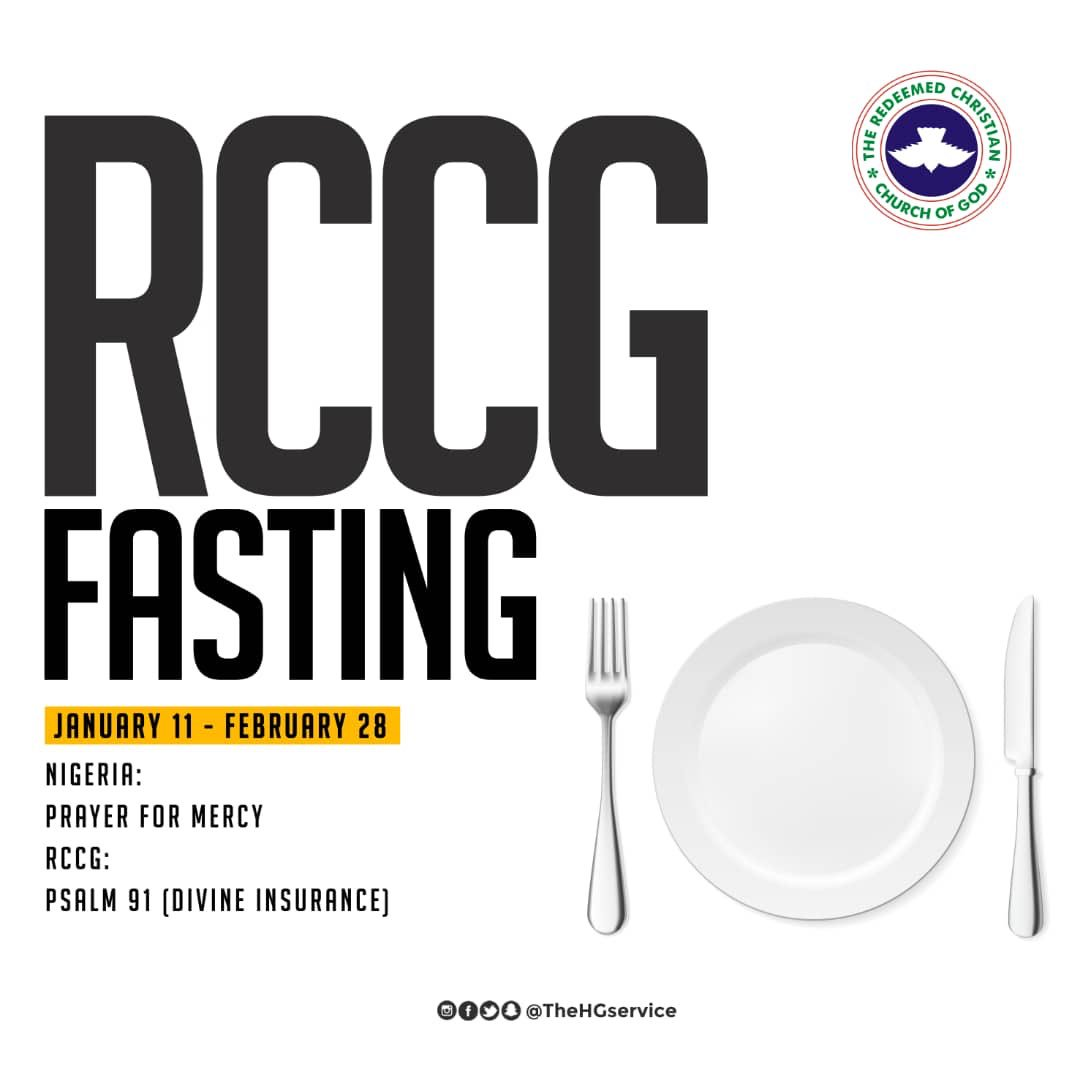 RCCG 2019 Fasting And Prayer Points Day 1, RCCG 2019 Fasting And Prayer Points Day 1 Guidelines (Updated), Latest Nigeria News, Daily Devotionals & Celebrity Gossips - Chidispalace