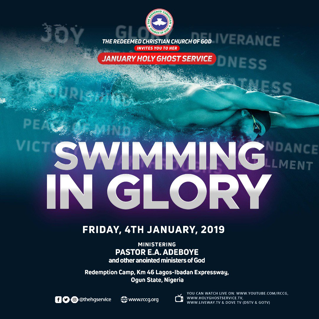 Watch LIVE: RCCG Holy Ghost Service January 2019