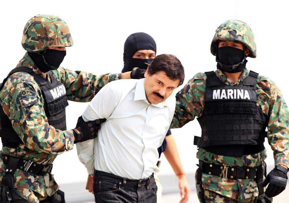 """Drug Lord, Mexican drug lord  Joaquín """"El Chapo"""" Guzmán found guilty on all counts, faces life in prison"""