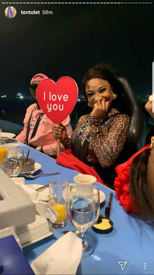 Tonto dikeh, I Love You' – Tonto Dikeh Flaunts Lover As She Goes On A Romantic Dinner With Him(Photos), Latest Nigeria News, Daily Devotionals & Celebrity Gossips - Chidispalace