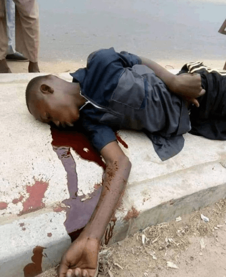 man dies while celebrating Buhari's victory, Another man dies while celebrating Buhari's victory in the just concluded election (graphic photo)
