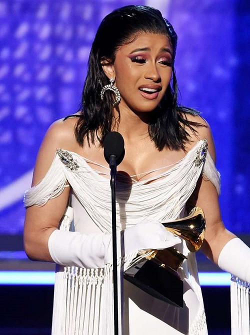 Cardi B becomes first solo female to win best rap album at the Grammys, Cardi B becomes first solo female to win best rap album at the Grammys