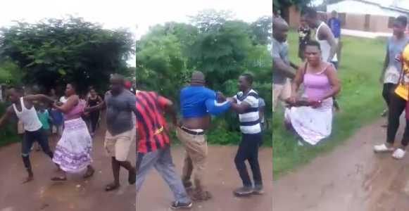 Man catches cheating wife & lover after trailing her to their s6x spot (Video)