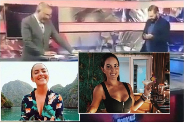 Male TV Presenters Caught Talking About Female Reporter's Breast, Male TV Presenters Caught Talking About Female Reporter's B!reast in TV Studio, Latest Nigeria News, Daily Devotionals & Celebrity Gossips - Chidispalace