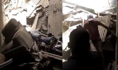 , Video: Watch the moment a child was rescued alive from the Lagos school building collapse