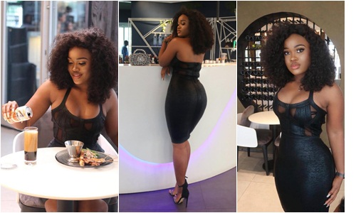 BBNaija star Cee-c flaunts Hourglass Shape In Sexy Black Dress (Photos)