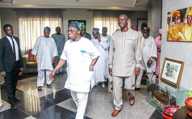 , Atiku, Makinde in closed-door meeting with Obasanjo